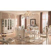 Prancūzų dvaro valgomojo baldų komplektas F208