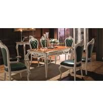 Prancūzų dvaro pietų stalas su kėdėmis F216